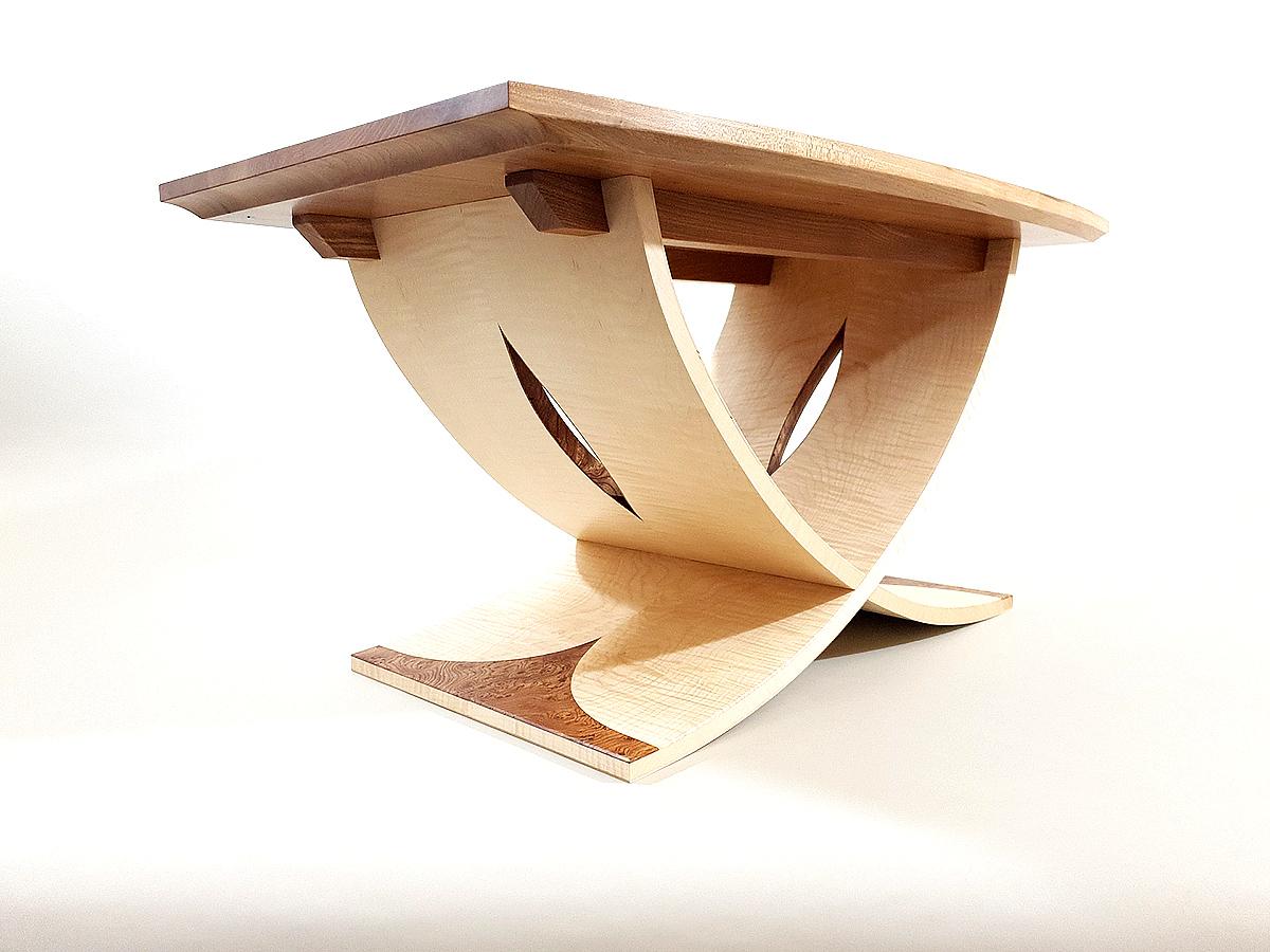 Tom Cooper, 'Leaf Flow' table, elm, sycamore