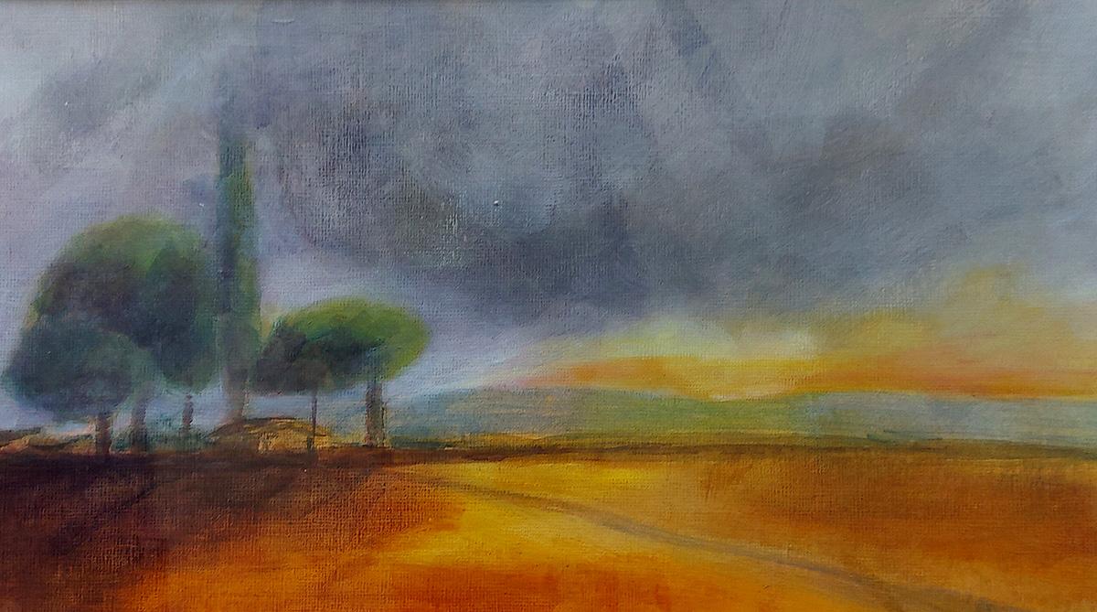 Carolyn Maxwell, 'Evening Sunset', acrylic on paper