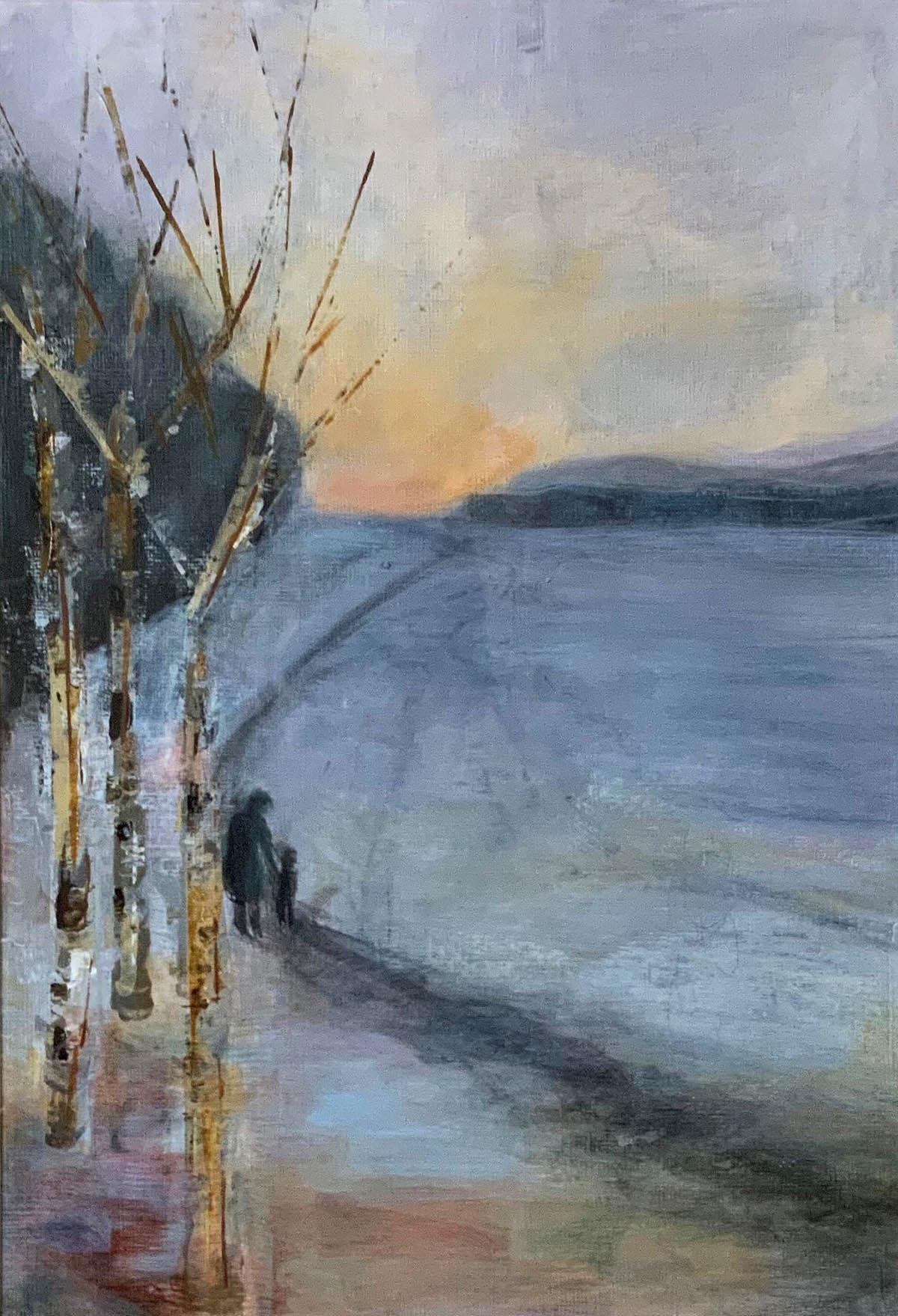 Carolyn Maxwell, 'Winter Evening', acrylic on paper