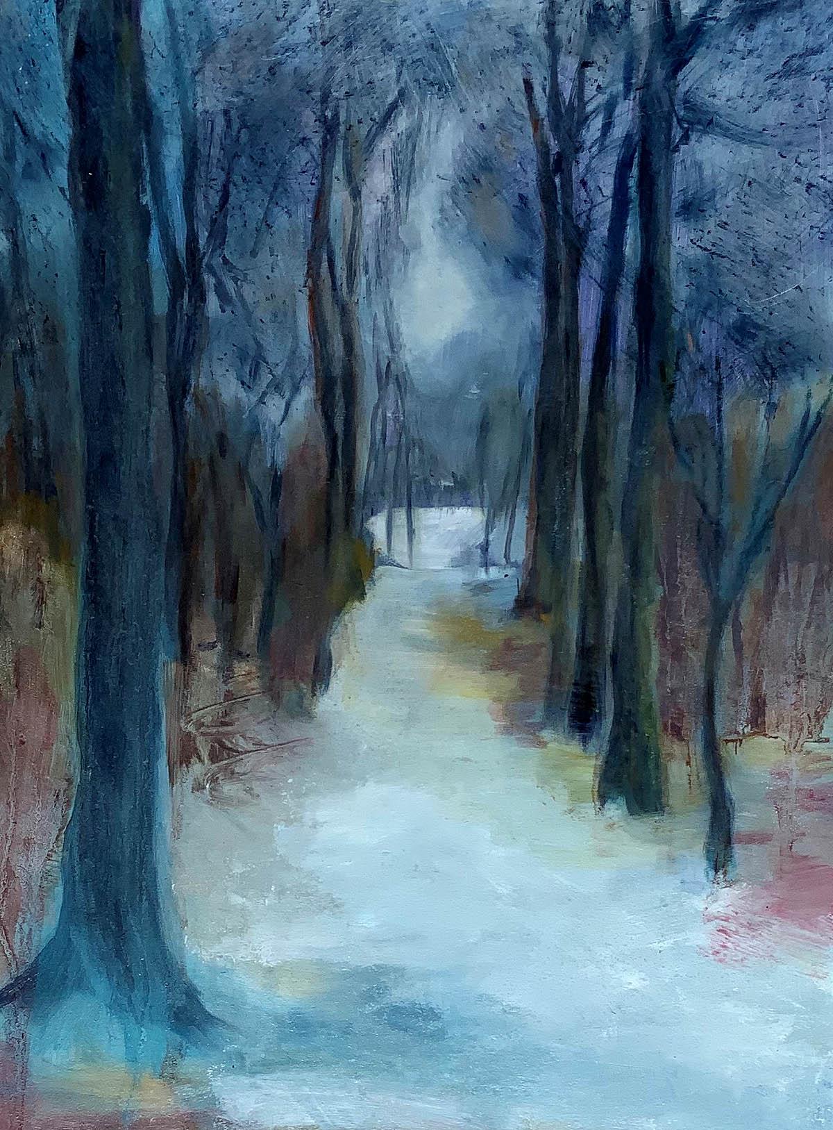 Carolyn Maxwell, 'Winter Trees, Ravelston park', oil on gesso board