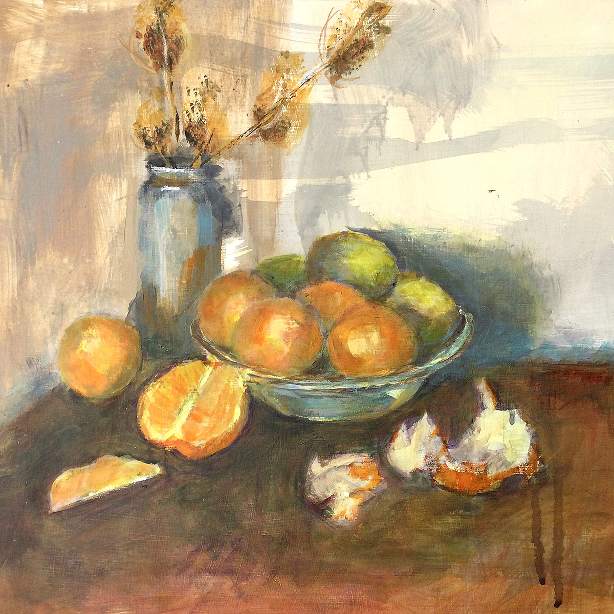 Mary Lambie, 'Fruit Bowl', acrylic on paper and cradled board