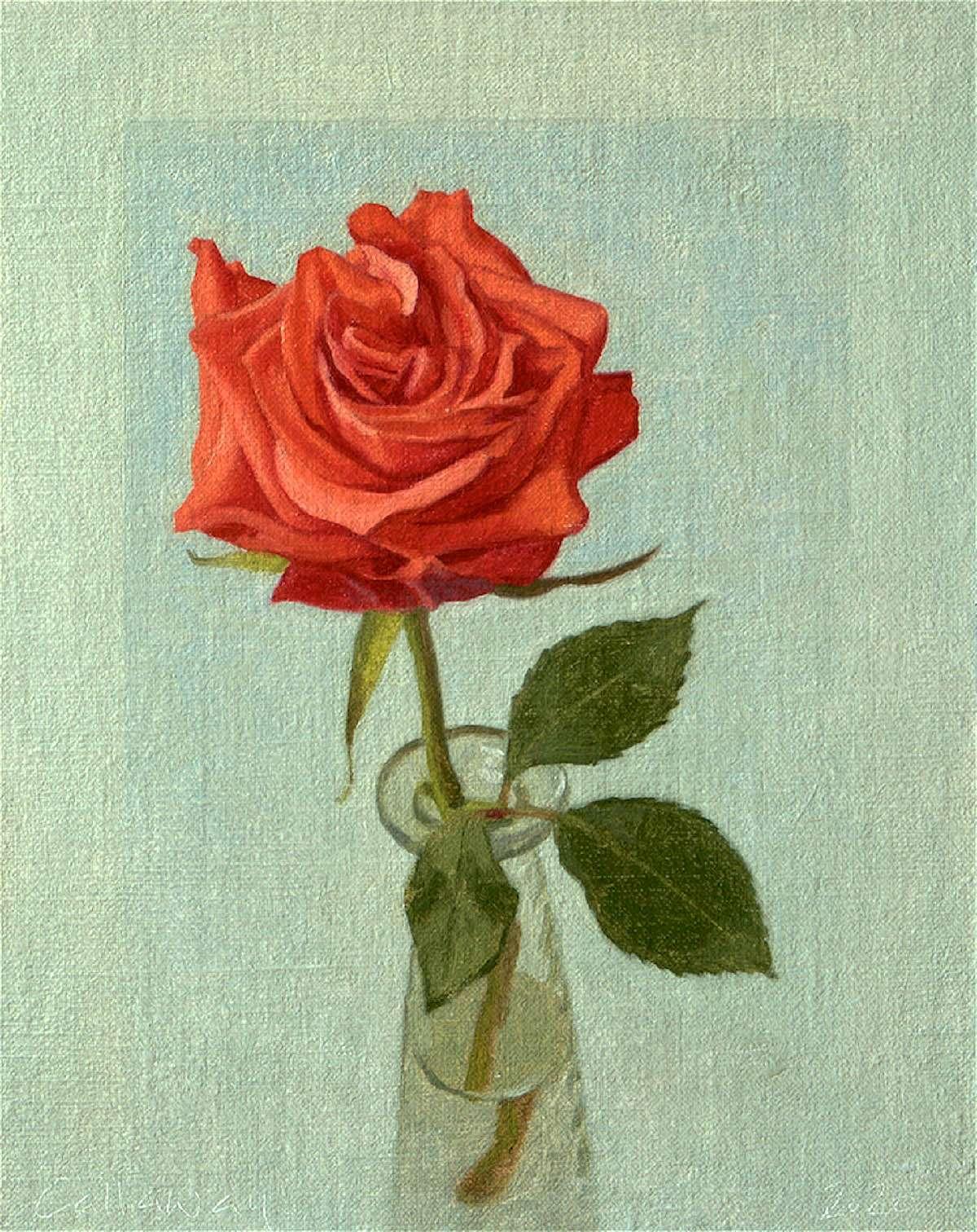 Alex Callaway, 'Rose', oil on board