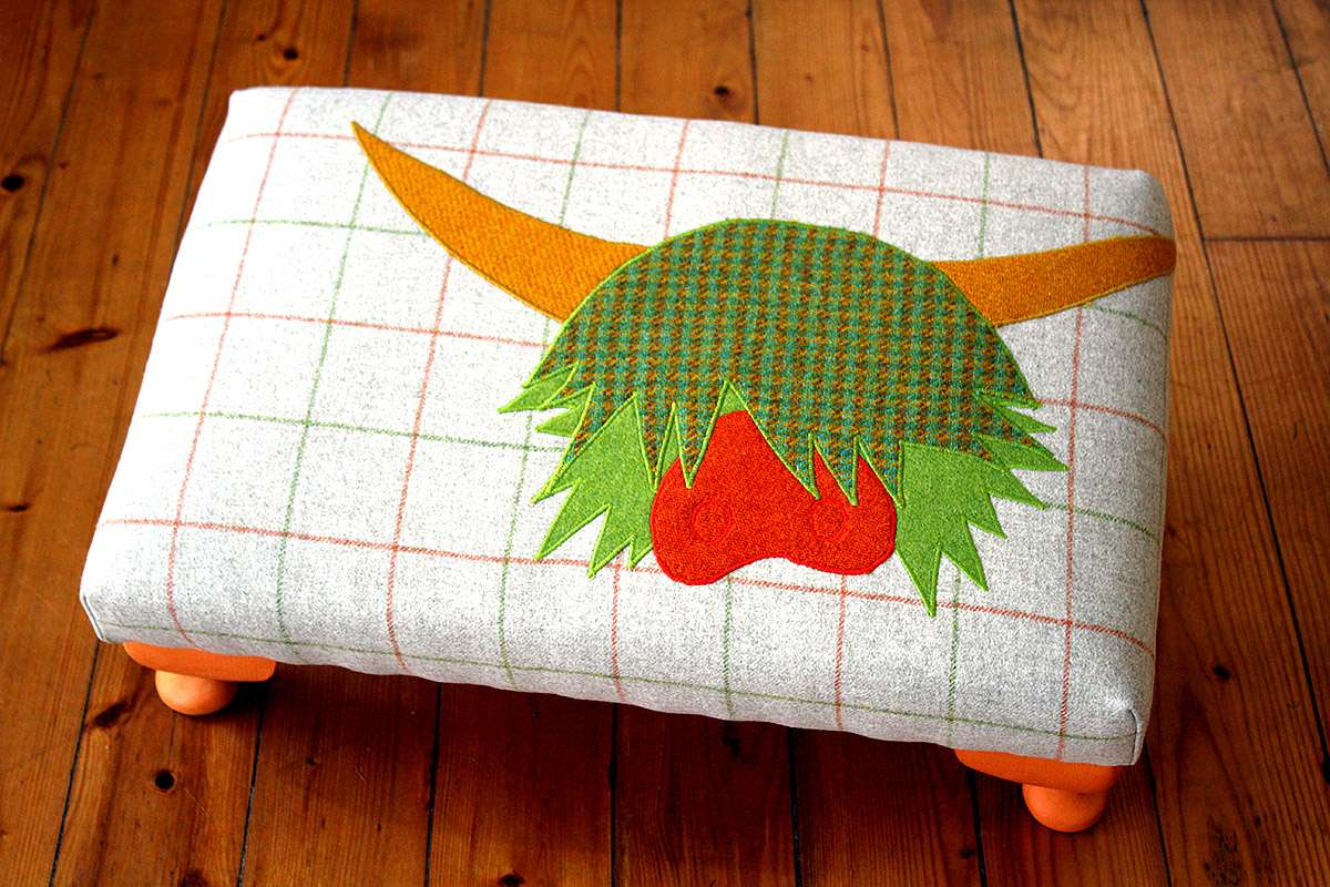 Spring ginger coo stool by Angela Thomson