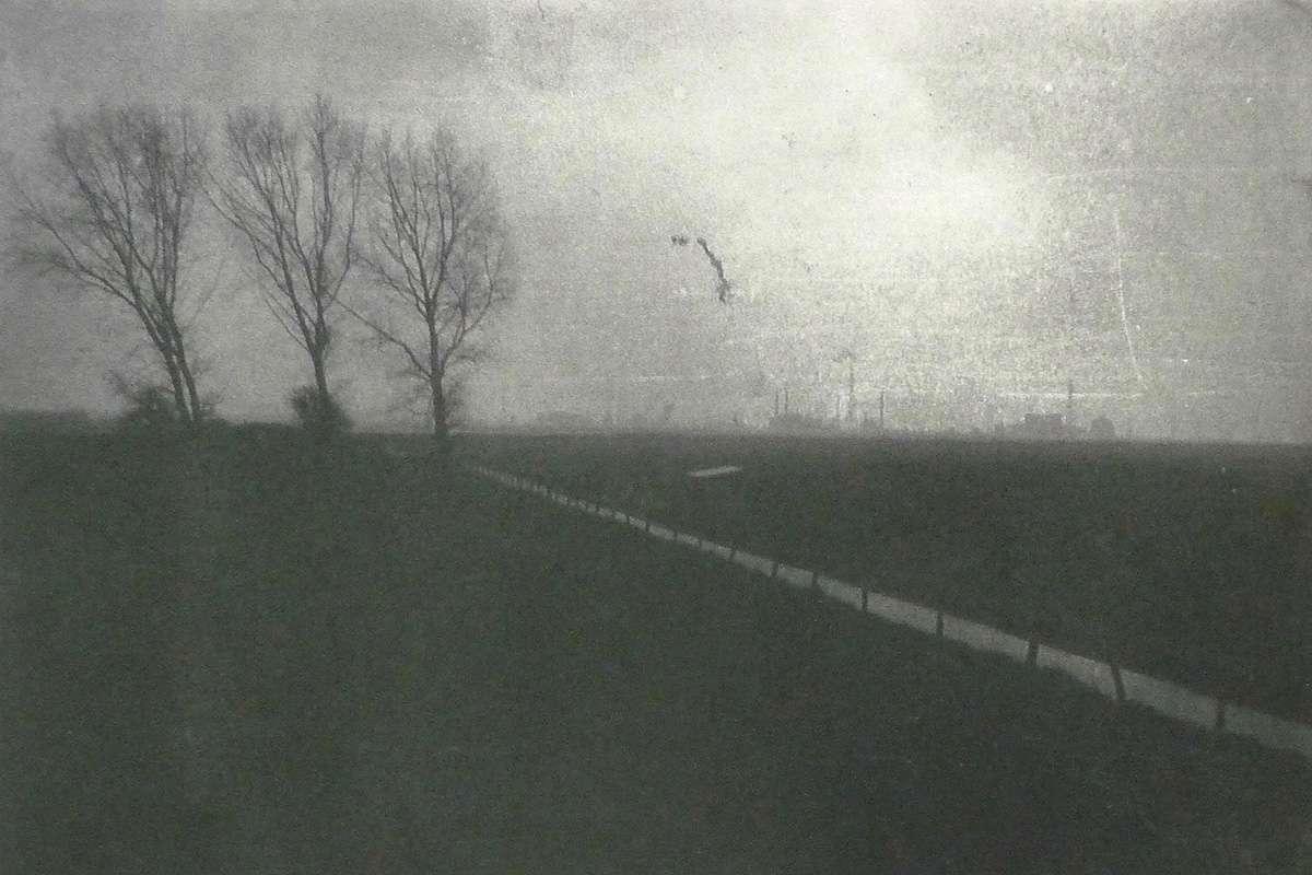 Anna H. Geerdes, 'Noordpolder Woensdrecht/Ossendrecht 3', part of Borderland series, photo-etching