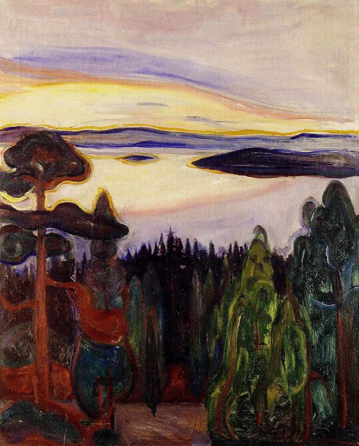 Edvard Munch, 'Sunset, Nordstrand' (1900)