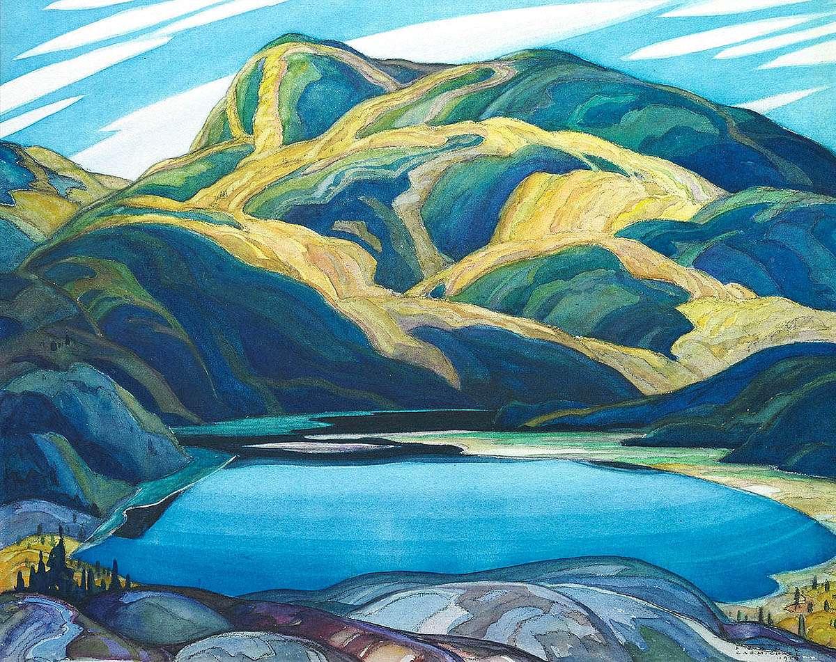 Franklin Carmichael, 'Lone Lake', (1929) Group of Seven
