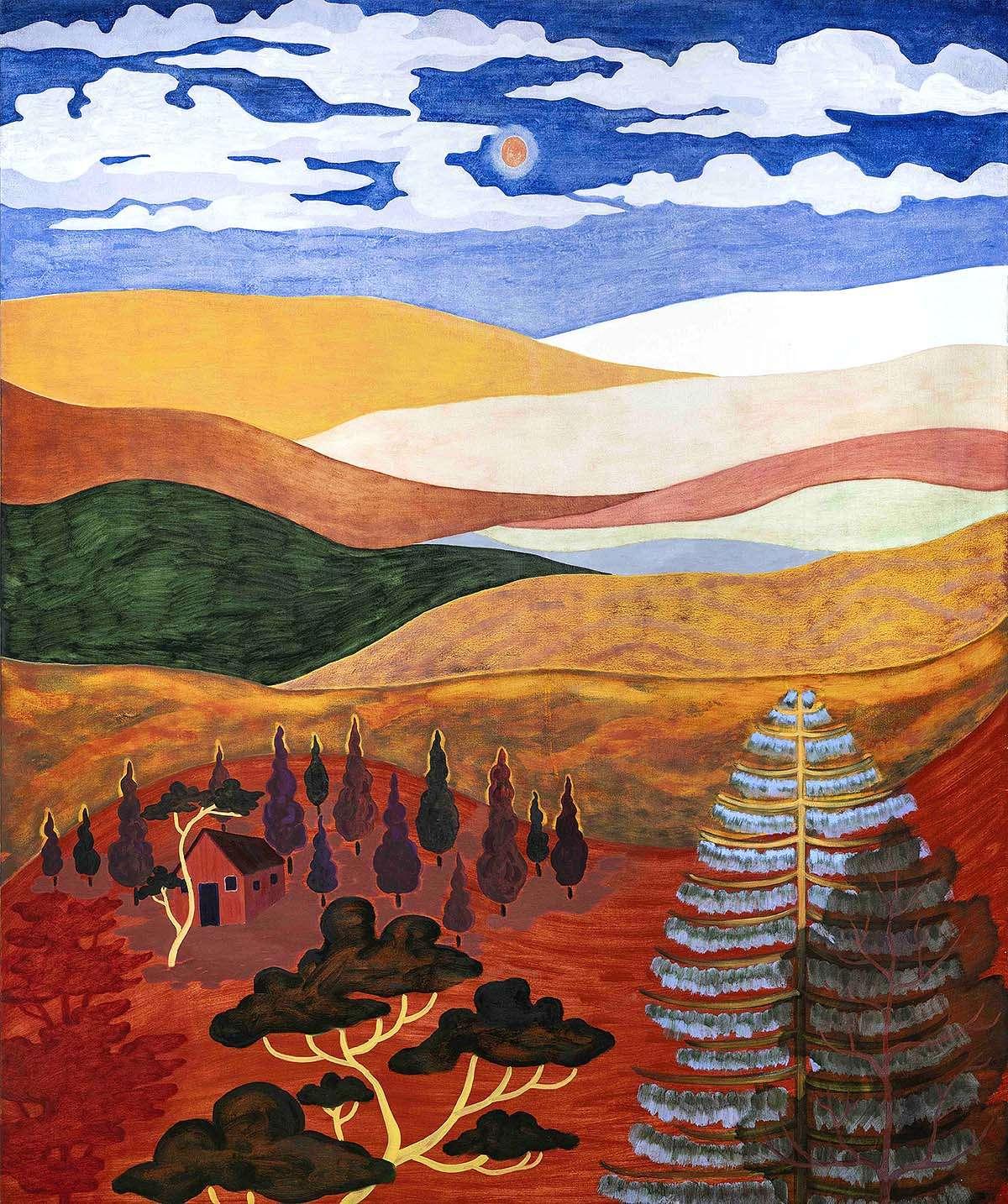 Freya Douglas-Morris, 'Hills of Honey', oil on canvas