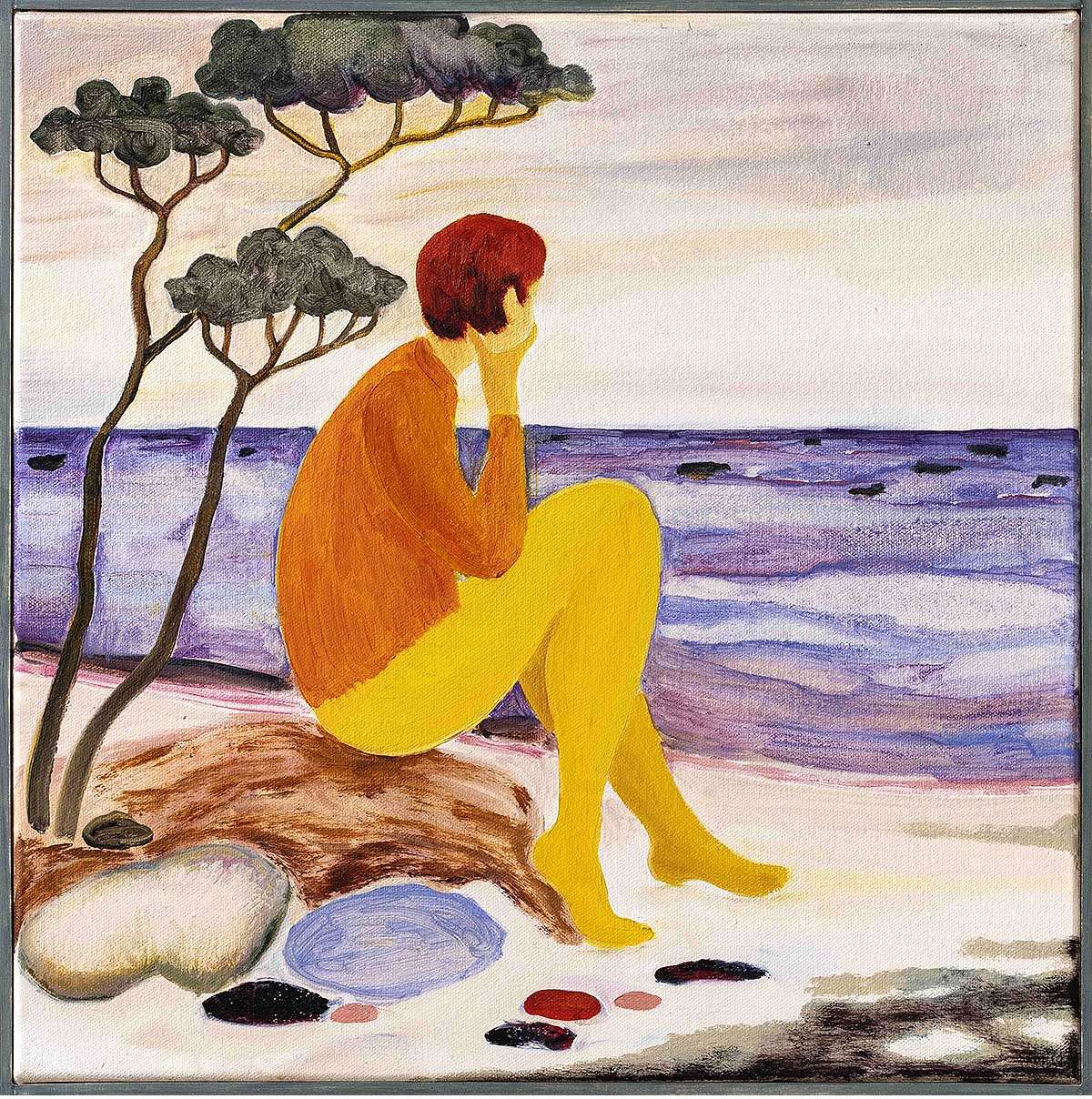 Freya Douglas-Morris, 'The slowness of time', oil on canvas