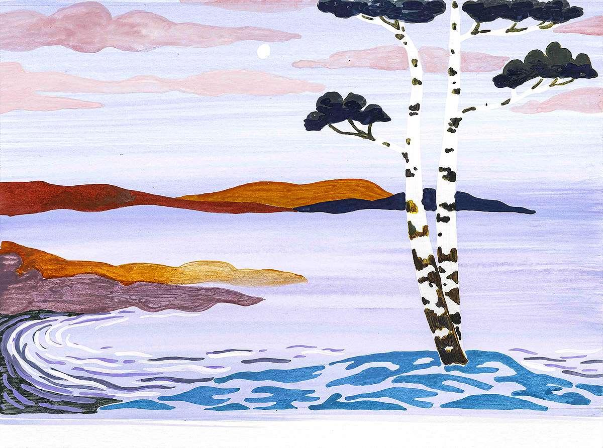 Freya Douglas-Morris, 'Dawn', watercolour and gouche on paper