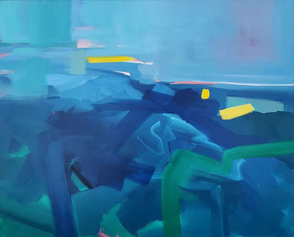 Mary McDonald, 'Fyne Day, exploring colour under water', oil on canvas