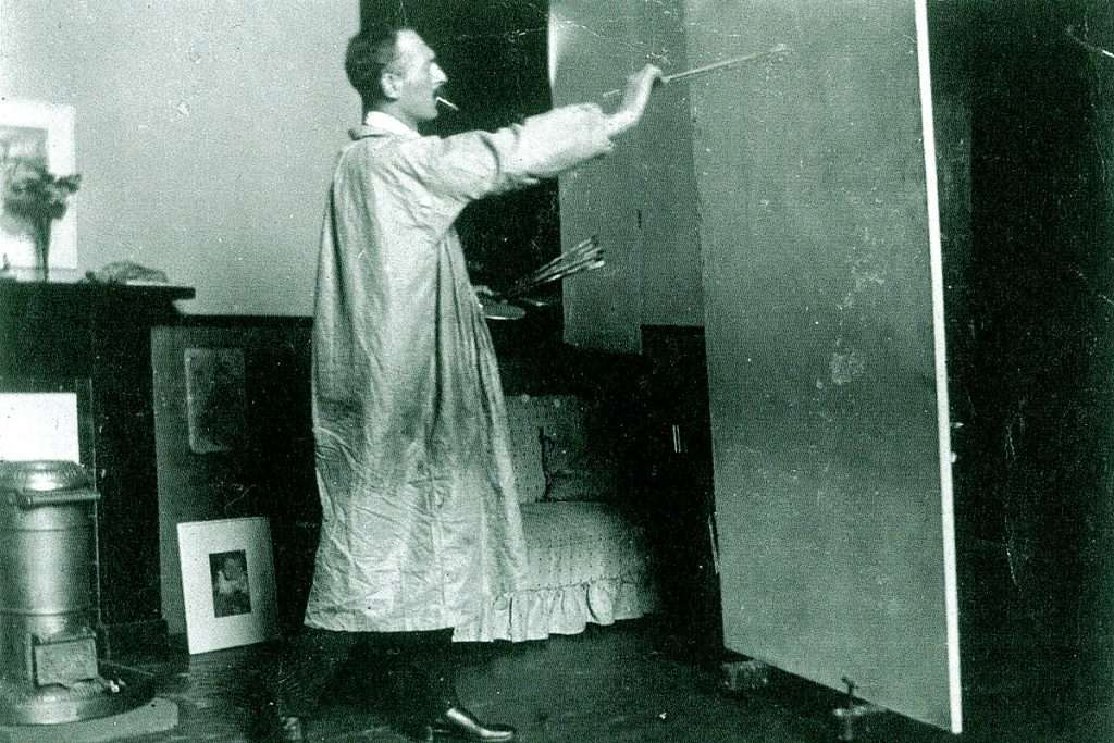 SJ Peploe in his Edinburgh studio, c.1902-04