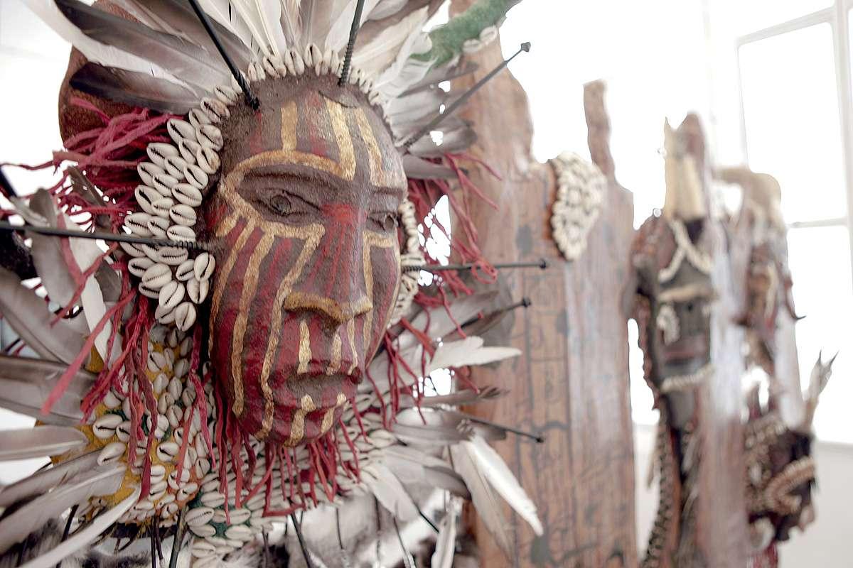 Maryam Yahia, 'African Glimpse', draped sculpture, photo Ian Dodds