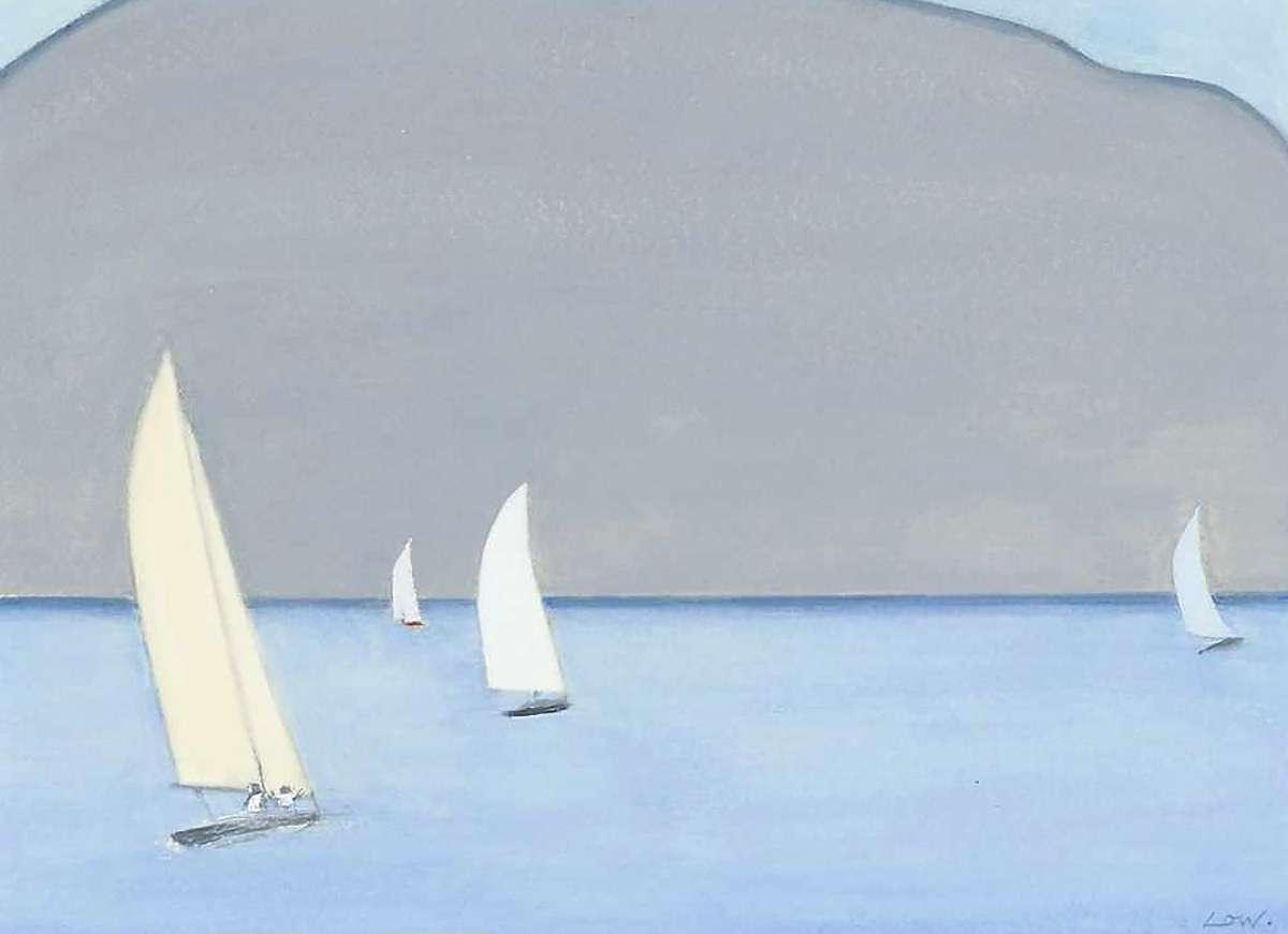 Bet Low, 'Sailing Round Jura', watercolour