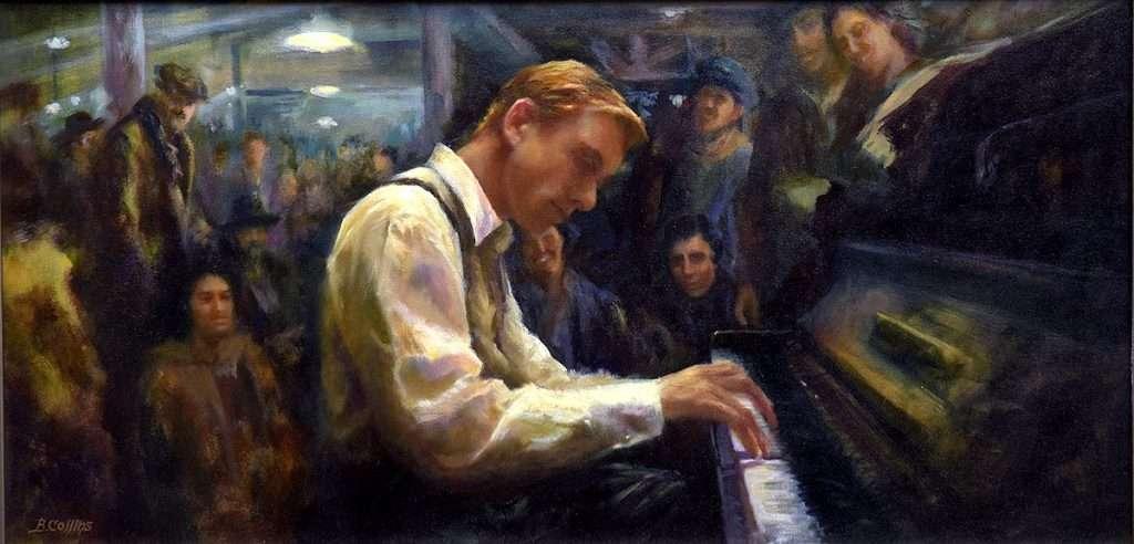 Brendan Collins, 'The Piano Player', oil