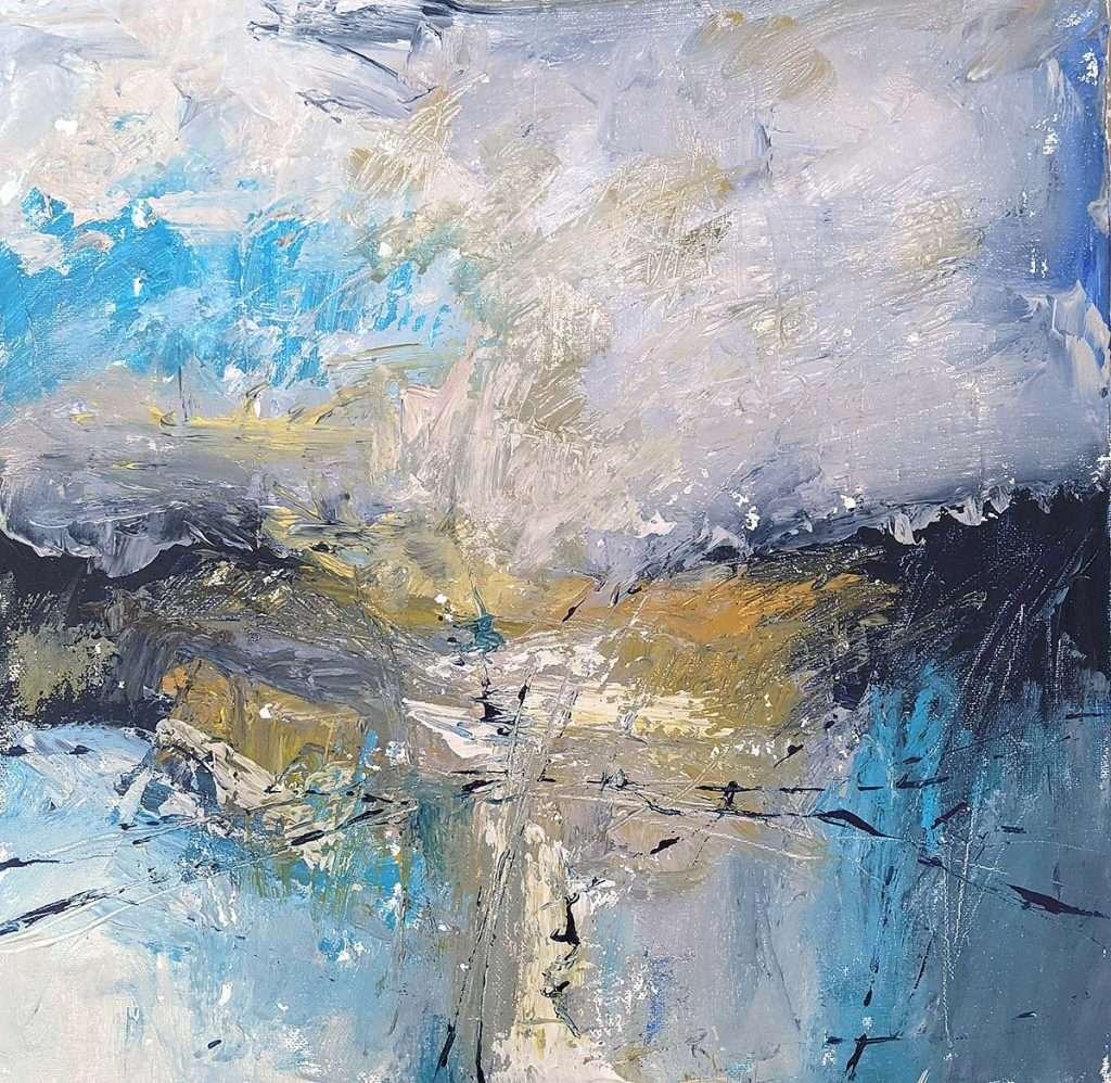 Kymme Fraser, 'A Bit Of Blue Sky', mixed media