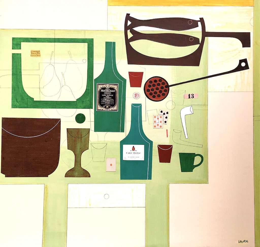 Simon Laurie, 'Fine Wines', collage on board