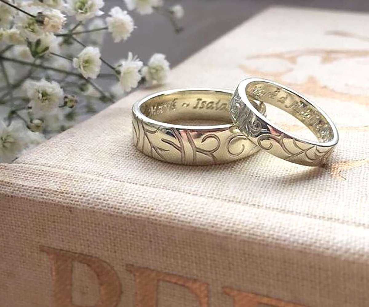 Wedding rings by Ailsa Ritchie