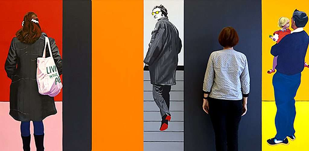 Clare Andrews, 'Life in the Abstract- Grey Orange'