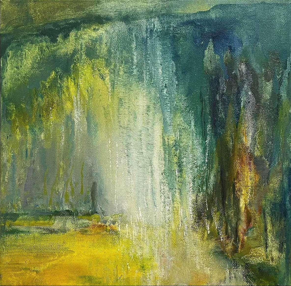 Sarah Knox, 'Waterfall', oil on canvas